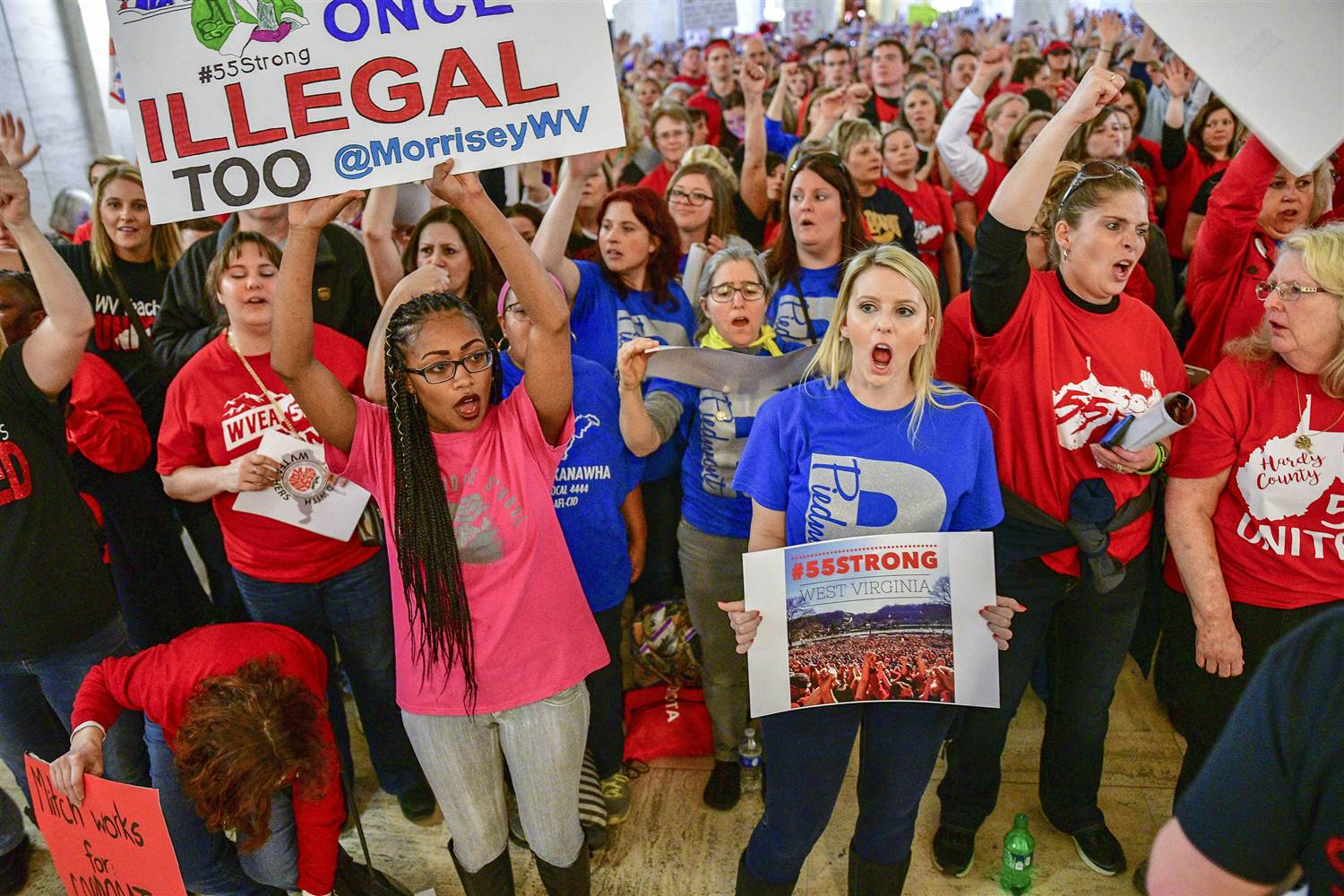 West Virginia teachers strike, teacher wages, labor movement, union employees, Janus v. AFSCME, West Virginia schools, low teacher pay