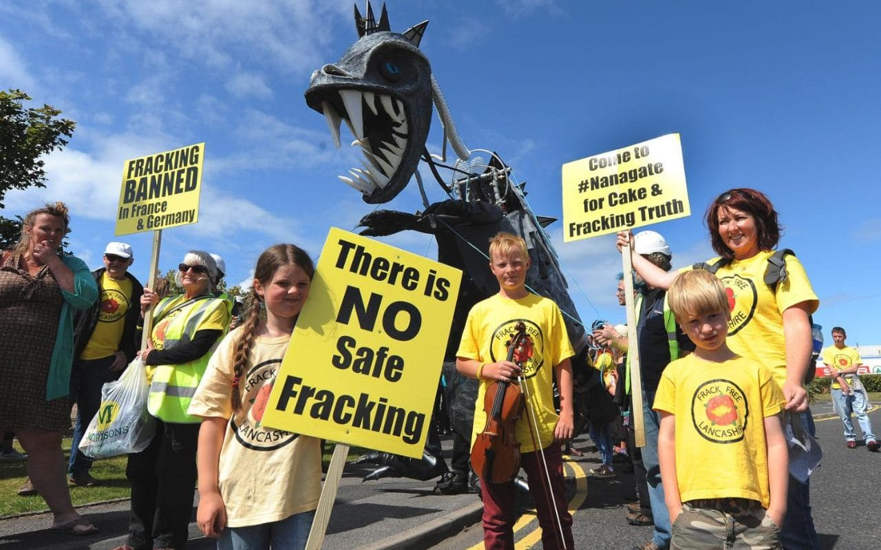 fracking protests, UK fracking, Frack Free Four, anti-fracking arrests, Cuadrilla