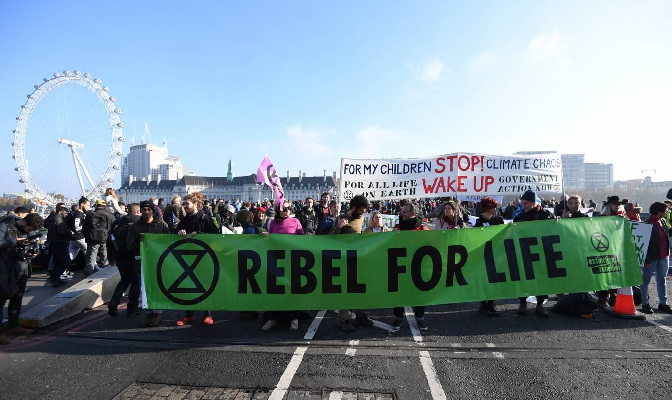 climate resistance, Extinction Rebellion, London climate protests, carbon emissions, climate activists, human extinction