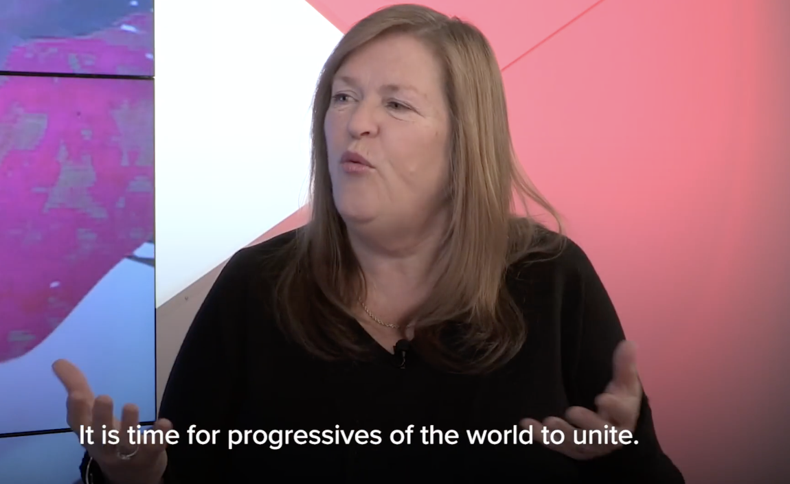 Yanis Varoufakis, Jane Sanders, Bernie Sanders, Sanders Institute, Progressive International, global left, populist movements, rising authoritarianism