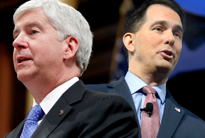 Scott Walker, Wisconsin GOP, Wisconsin protests