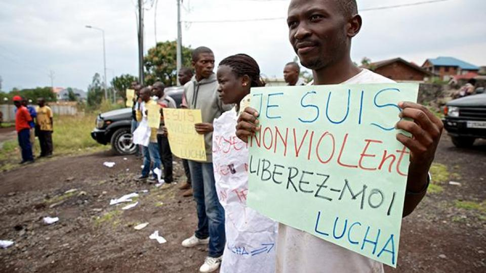 Goma water movement, Lucha, Congolese fighting, Congo war, grassroots movement, access to safe water