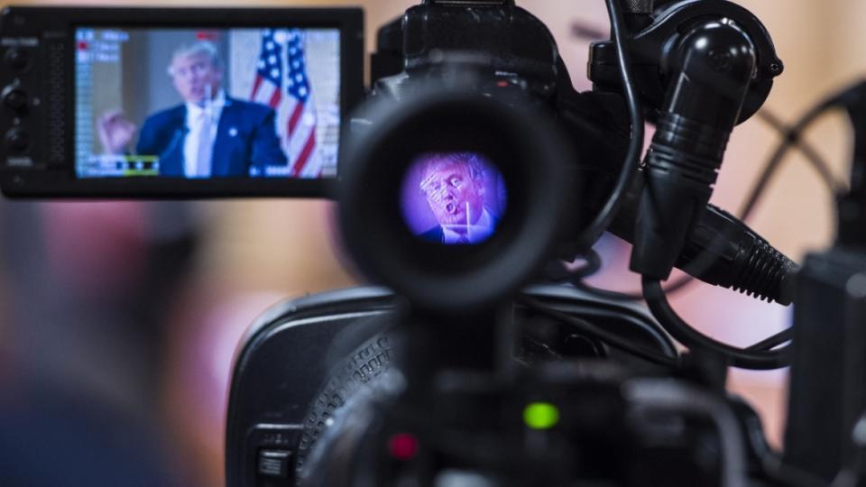 Donald Trump, corporate media, Trump media, Trump ratings