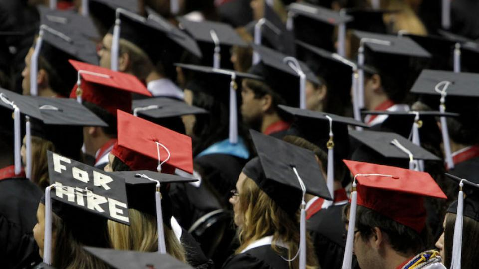 Students graduating at the University of Alabama in Tuscaloosa in 2011. (Butch Dill / AP)