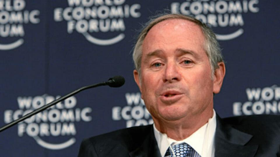 Stephen Schwarzman is the chairman and CEO of the Blackstone Group, a global private equity firm he founded in 1985 with former U.S. Secretary of Commerce Pete Peterson. (World Economic Forum / Wikimedia)