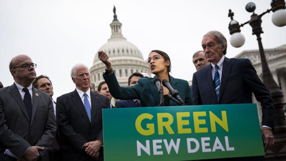 Alexandria Ocasio-Cortez, power utilities, Green New Deal, PG&E bankruptcy, nationalize utilities, Democracy Collaborative, Community Choice Aggregators, renewable energy, clean energy jobs, green jobs, green economy