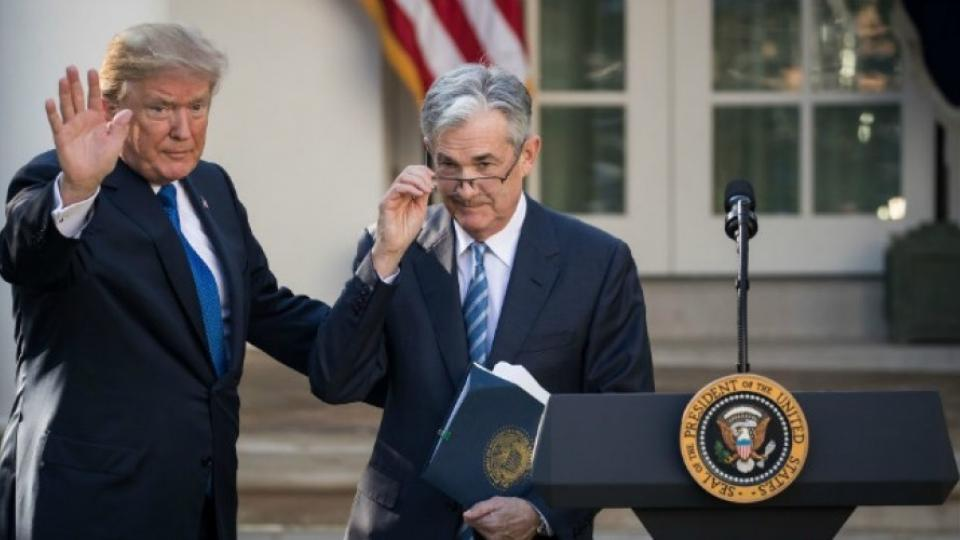 President Donald Trump waves after introducing his nominee for the chairman of the Federal Reserve Jerome Powell during a press event in the Rose Garden at the White House, November 2, 2017 in Washington, DC. Current Federal Reserve chair Janet Yellen's