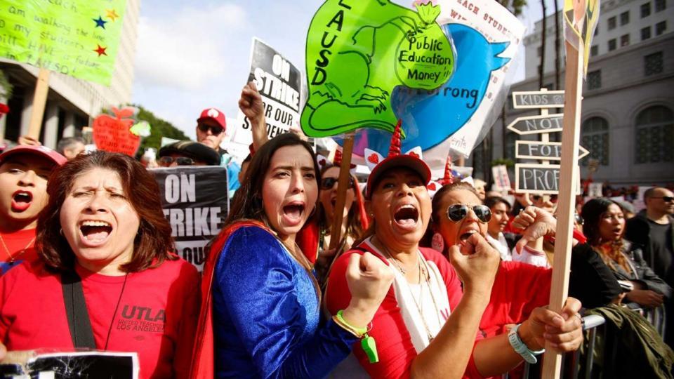 United Teachers of Los Angles, Los Angeles teachers strike, nationwide teacher strikes, UTLA, school cuts, school funding, teacher pay, Schools and Communities First, Proposition 13, Alliance of Californians for Community Empowerment,