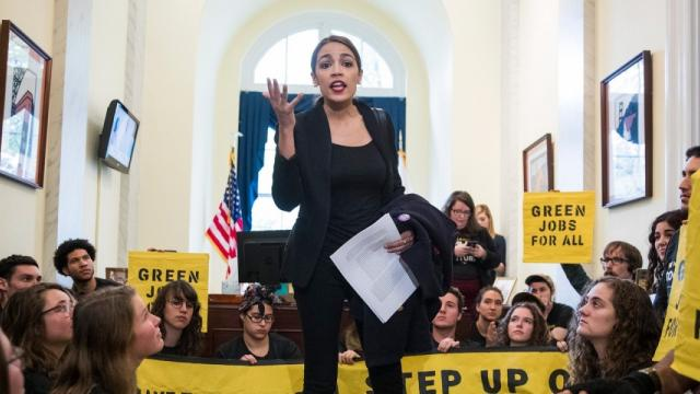 Green New Deal, climate crisis, Sunrise Movement, Alexandria Ocasio-Cortez, climate movement, carbon emissions, Paris climate agreement
